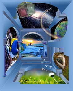 Digital creation inspired by Escher Fantasy Art, Aquarium, Creatures, Mansions, Inspired, Digital, World, House Styles, Gallery