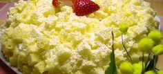Torta mimosa con fragole e crema chantilly | Kikakitchen