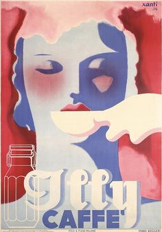 Xanti Schawinsky, advertising poster for Illy coffee, 1934. Studio Boggeri, Italy.