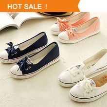 New 2014 Fashion High Quality Canvas Shoes Women Flats Women's Spring Summer Autumn Shoes Woman Casual Shoes(China (Mainland))