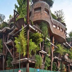 Epic treehouse apartments made for grown ups: http://abc13.co/1GfAZSE
