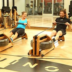 Watch and Learn to Row Like a Pro: Sweating it out on the rowing machine is a great cardio workout, and unlike the treadmill, it's usually sitting empty so you can hop on and get working at any time. Cardio, Rowing Workout, Butt Workout, Planet Fitness Workout, Fitness Tips, Health Fitness, Fitness Fun, Fitness Quotes, Indoor Rowing