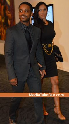 BEAUTIFUL COUPLE!!! Larenz Tate And His WIFE OF TEN YEARS . . . Are Photo'd Out Together . . . You Know They've Been TOGETHER . . . Since MENACE 2 SOCIETY Days!!!