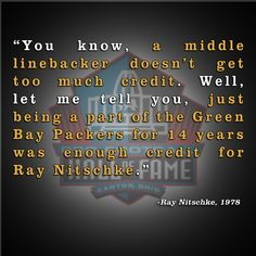 ... legend Ray Nitschke's Pro Football Hall of Fame enshrinement speech