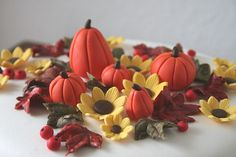 Fall cake decorations by cakejournal, via Flickr