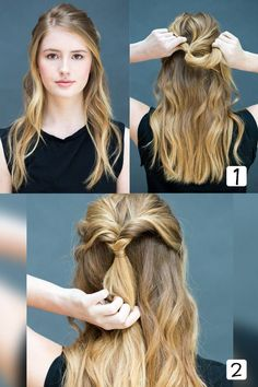 Easy Hairstyles For Women To Look Stylish In No Time Easy Hairstyles for Women are an all in one solution for getting an instant stylish look. Here are some selective step by step easy hairstyles to achieve Braided Hairstyles Updo, Very Easy Hairstyles, Straight Hairstyles, Cool Hairstyles, Fringe Hairstyles, Types Of Hair Extensions, Bad Hair Day, Hair Lengths, Hair Inspiration