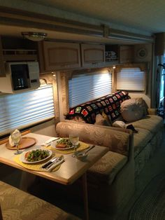 Glamping inside the RV