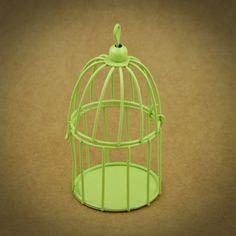 3 X GAIOLAS EM METAL MINIATURA | 6 CORES | VERDE | Utilize esta gaiola em metal miniatura como embalagem ou surpreenda os seus convidados com uma lembrança original | Cores disponíveis: Branco, Off White, Amarelo, Laranja, Azul, Verde | Medidas: 5,5 cm de diâmetro x 9,5 cm de altura.
