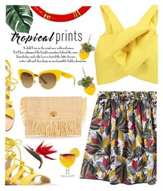 """""""Tropical Prints"""" by dixiebelle81 ❤ liked on Polyvore featuring MANGO, Delpozo, Cornetti, Sanayi 313, NOVICA and Dolce&Gabbana"""