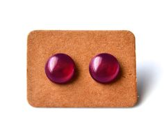 Merlot Pearls . Stud Earrings by MerelaniDesigns on Etsy