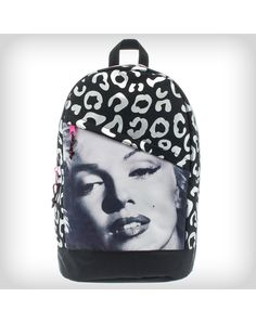 Marilyn Monroe Leopard Foil Backpack