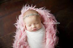 Olivia Sparkles ~ Rhinestone Headband Baby Headband Newborn Headband Christening Headband Baptism Headband by MiyahsCloset on Etsy
