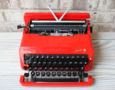 OLIVETTI VALENTINE portable manual typewriter by carouselandfolk, $775.00