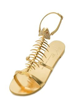 giuseppe zanotti's capsule gold-gilded collection