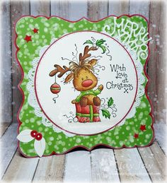 ~* Jay Jays kreative Welt *~: Fröhliche Weihnachten - New Ideas 3d Cards, Xmas Cards, Cool Cards, Holiday Cards, Christmas Moose, Christmas Ornaments, Winter Karten, Xmas Wishes, Whimsy Stamps