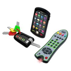Kidz Delight Tech Trio Set - Give your child his own keys, phone, and remote with the Kidz Delight Tech Trio Set . Fun and ideal for imaginary play, the smartphone features. Toddler Toys, Baby Toys, Kids Toys, Toddler Stuff, Kids Electronics, Teaching Colors, Tech Toys, Learning Toys, Baby Play