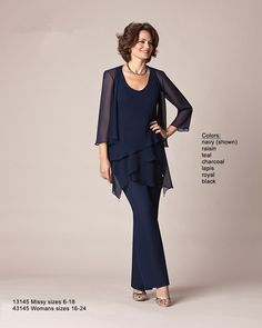 Mother of the Bride Pant Suits  2014 New Fashion with jackt Mother of the Bride Dresses with jacket comfort-0018 $104.00