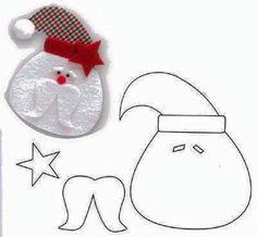 DIY Santa Claus Sewing Patterns and Ideas Christmas Sewing, Christmas Crafts For Kids, Christmas Projects, Felt Crafts, Christmas Fun, Holiday Crafts, Primitive Christmas, Father Christmas, Country Christmas
