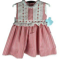 ... New Outfits, Kids Outfits, Red Frock, Frocks, Little Girls, Girls Dresses, Rompers, Stitches, Inspiration