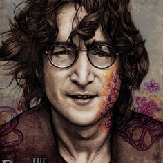 Работа John Lennon. Illustration © Галя Губченко. . Cмотрите на re:vision