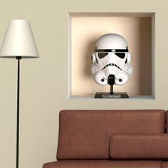 Stickers muraux: Niche Stormtrooper StormTrooper. Vinyle décoratif Star Wars. #starwars #vinyle #trooper #stormtrooper #mur #decoration #deco #WebStickersMuraux