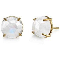 Rainbow Moonstone Prong Set Studs ($1,980) ❤ liked on Polyvore featuring jewelry, earrings, rainbow moonstone stud earrings, round stud earrings, earrings jewelry, rainbow moonstone jewelry and 18 karat gold earrings