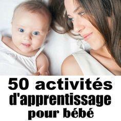 50 activités d'apprentissage pour bébé Il y a tellement d'activités d'apprentissage à faire avec les bébés. Ces activités d'apprentissage pour bébé sont une combinaison d'activités qui aideront au développement du langage, de la numératie, du cerveau et des compétences motrices ! La première année de la vie d'un bébé est passionnante et étonnante pour une maman. Mais elle peut aussi être un énorme ajustement… épuisant. Voici quelques idées d'activités d'apprentissage pour bébé pour les jour