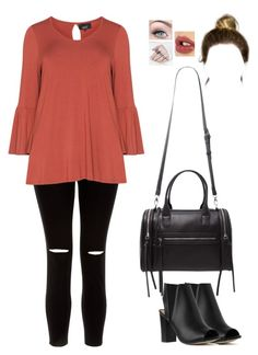 """""""Untitled #1125"""" by sophloveshaz ❤ liked on Polyvore featuring New Look, Zhenzi, Forever 21 and Charlotte Tilbury"""