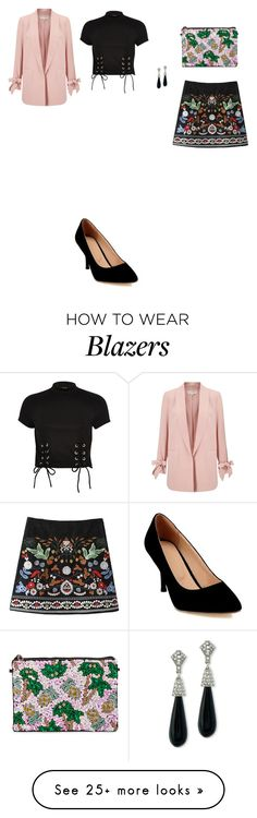 """""""Untitled #4098"""" by anamaria-zgimbau on Polyvore featuring From St Xavier, Miss Selfridge, River Island and Kenneth Jay Lane"""