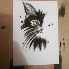 Tinta sobre Canson, A5. Fish Cat Toy, Toy Sale, Cat Toys, Rooster, A5, Animals, Home Decor, Ink, Cats