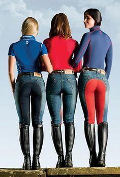 Tredstep Denim Ladies Full Seat Breeches - Sunshine Coast Saddlery horse riding boots