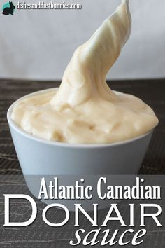 Donair sauce is a popular deliciously creamy and sweet garlic sauce that many East Coast Canadians like to put on cheesy garlic fingers (like garlic bread) or on our famous Donairs. – More at http://www.GlobeTransformer.org