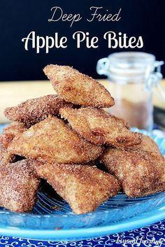 Deep Fried Apple Pie Bites | Beyond Frosting | #apples #applepie