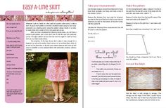 Easy A-Line Skirt: make your own custom by lisaclarkedotnet