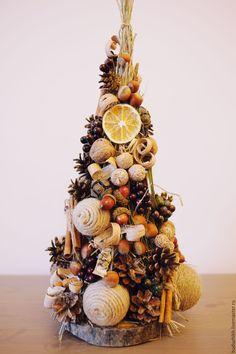 Купить Елочка в эко стиле - эко елка, елка, елка новогодняя, елка ручной работы