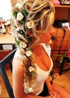 Stunning side braid! Beautiful for a Bride!