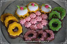 Kristallin hohtoa Felt Food, Cookies, Desserts, Blog, Diy, Tailgate Desserts, Do It Yourself, Biscuits, Deserts