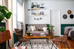Before & After: Studio apartment fabulously updated & chic! Lots of photos & ideas to make your small space live large.