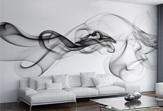 vinilo de pared humo negro