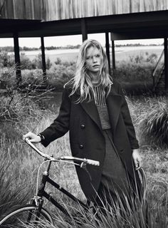 Anna Ewers | Photography by Josh Olins   cold  fashion  :)
