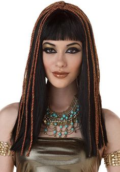Awesome Details About Ladies Long Queen Cleopatra Braids Gold Braided Hair Hairstyles For Women Draintrainus