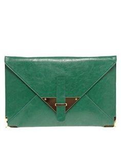 emerald envelope clutch