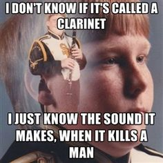 PTSD Clarinet Boy - I don't know if it's called a clarinet I just know the sound it makes, when it kills a man