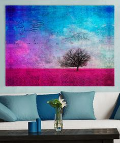 Another great find on #zulily! Field of Flowers Wrapped Canvas #zulilyfinds