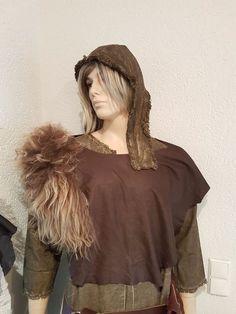 Mittelalter Leder Fantasie Larp Lederoberteil bustier Fell Island kragen 7 groß