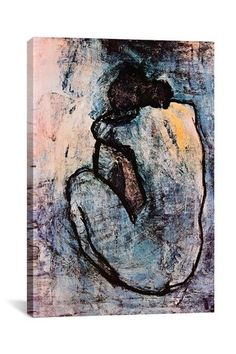 Pablo Picasso - Blue Nude, 1902. This is in my dining room! Love the colors!
