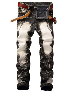 9bf2b7330ed581  SammyDress -  Rosewholesale Straight Leg Acid Wash Frayed Retro Jeans -  AdoreWe.com