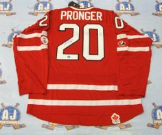CHRIS PRONGER Team Canada SIGNED 2010 Olympic JERSEY . $398.05. This is an official licensed SIGNED Chris Pronger Olympic Team Canada jersey. The jersey is brand new with all of the lettering and numbering professionally sewn on. The player has beautifully signed the number. To protect your investment, a Certificate Of Authenticity and tamper evident hologram from A.J. Sports World is included with your purchase.