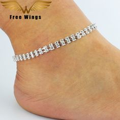 Simple Crytal Unique Sexy Anklet Ankle Bracelet Barefoot Sandals Foot Jewelry Leg Chain On Foot Pulsera Tobillo For Women B2.3