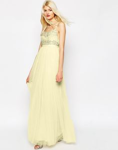 Image 4 ofNeedle & Thread Strappy Backless Tulle Embellished Maxi Dress